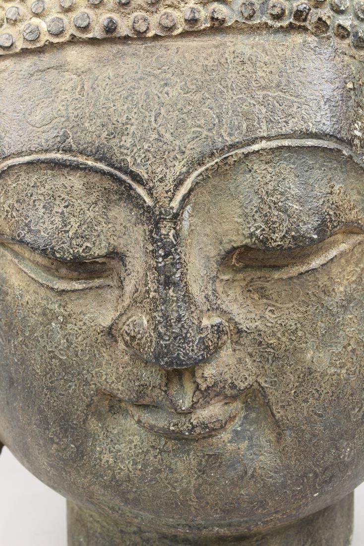 Chinese Stone Buddha Head - 7