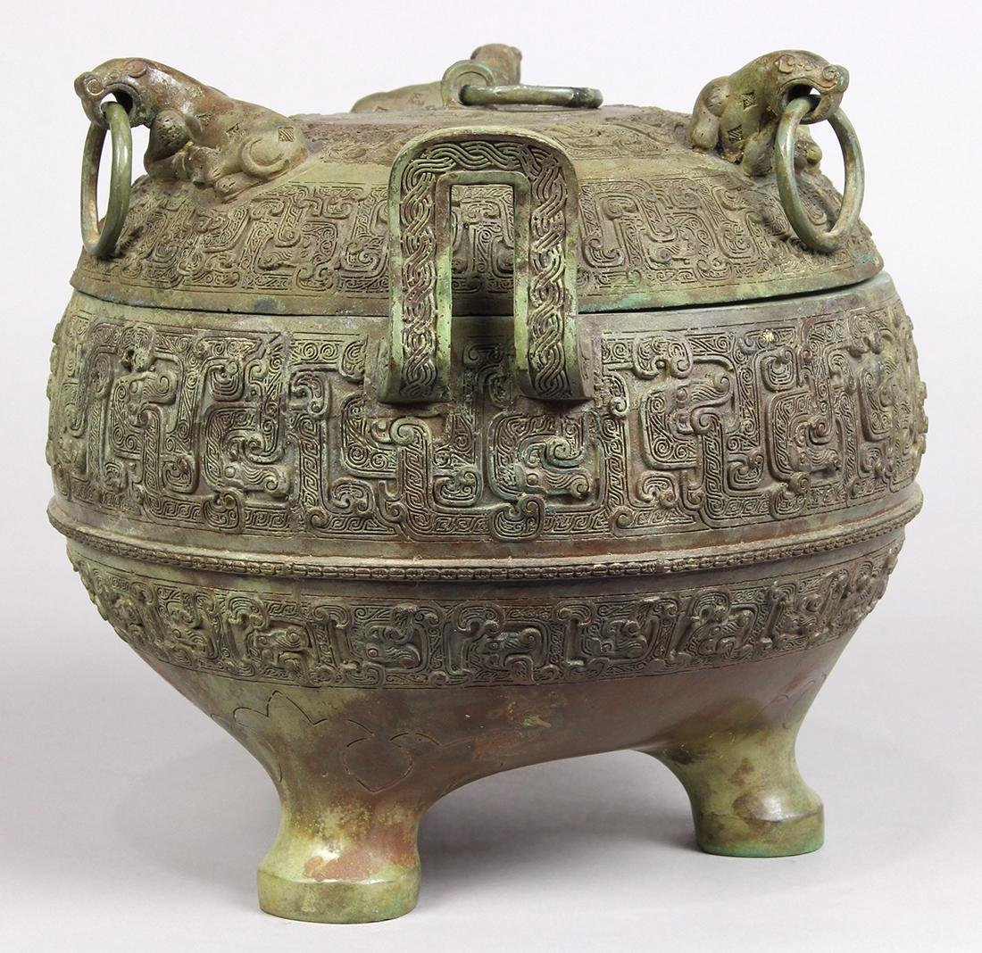 Chinese Archaistic Bronze Ding - 3