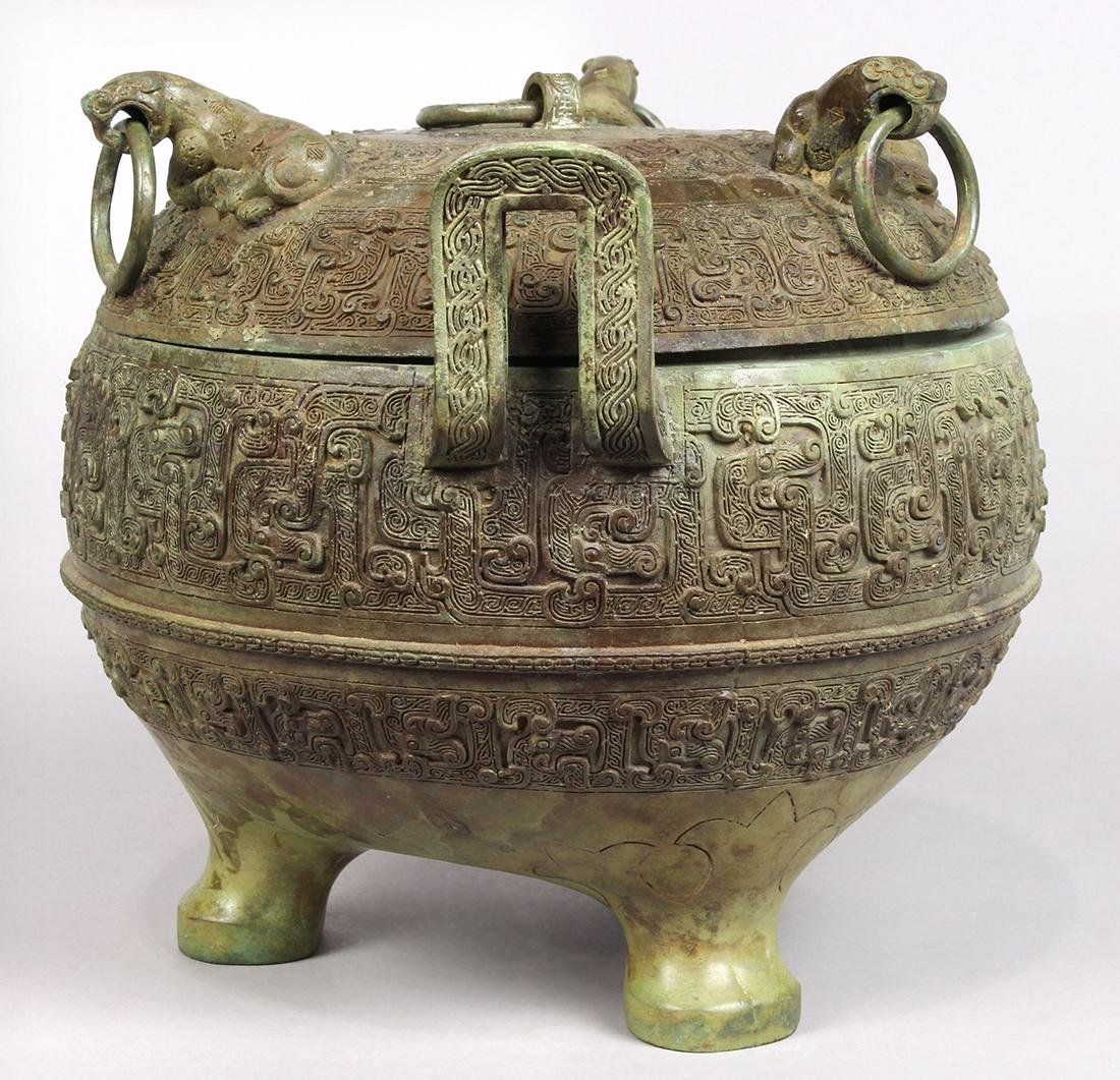 Chinese Archaistic Bronze Ding - 4