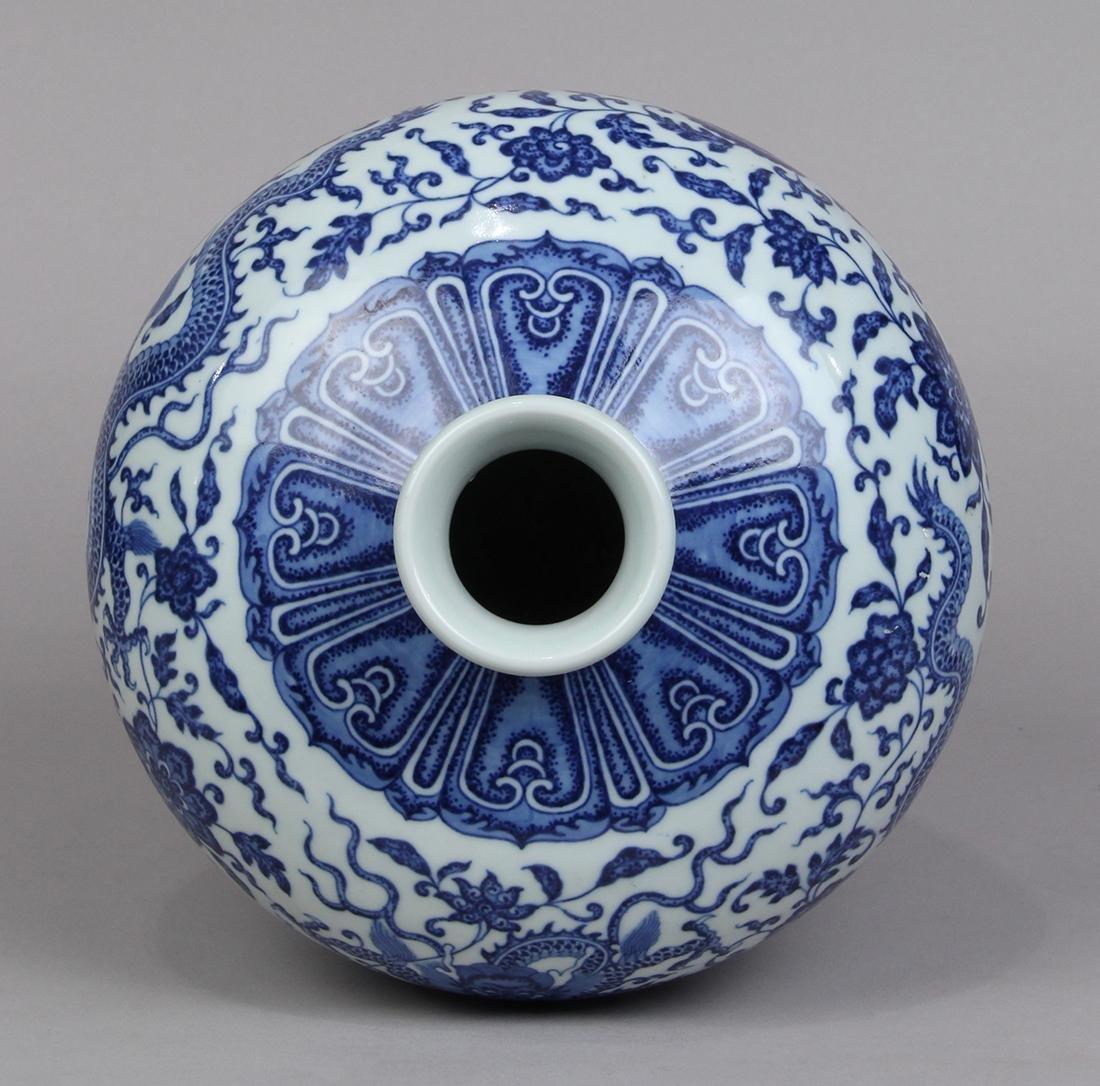 Chinese Underglaze Blue Meiping Vase - 4
