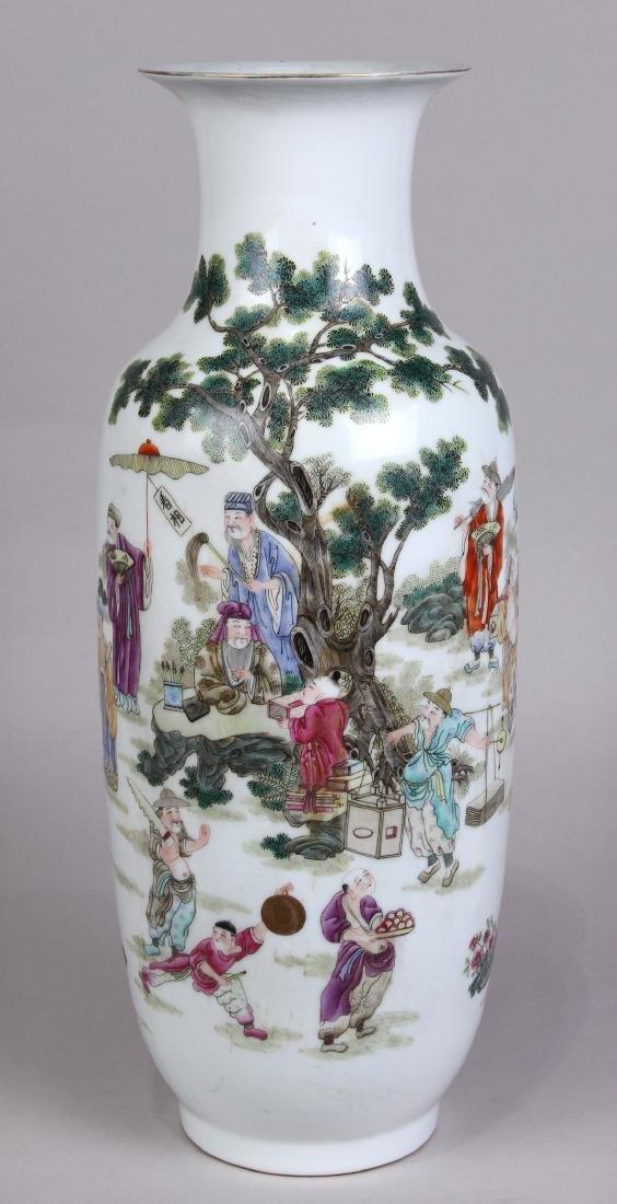 Chinese Porcelain Vase, Figure