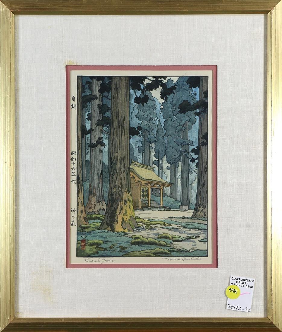 Japanese Woodblock Print, Yoshida Toshi, Jizuri, Sacred