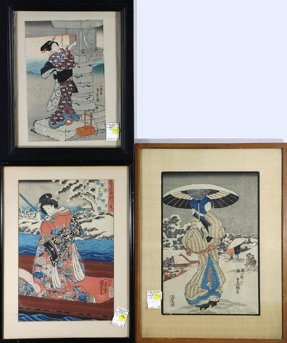 Japanese Woodblock Prints, Toyokuni, Kuniyoshi,