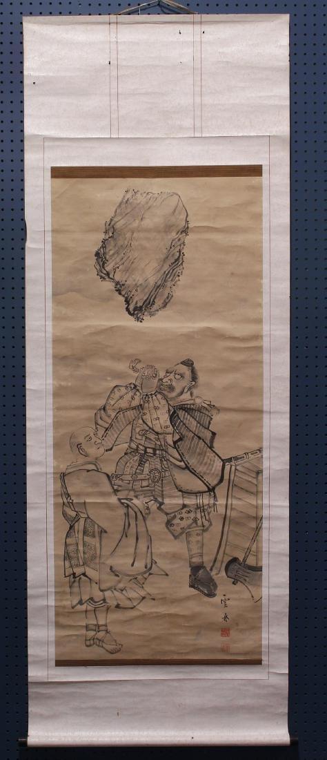 Japanese Scroll Benkei