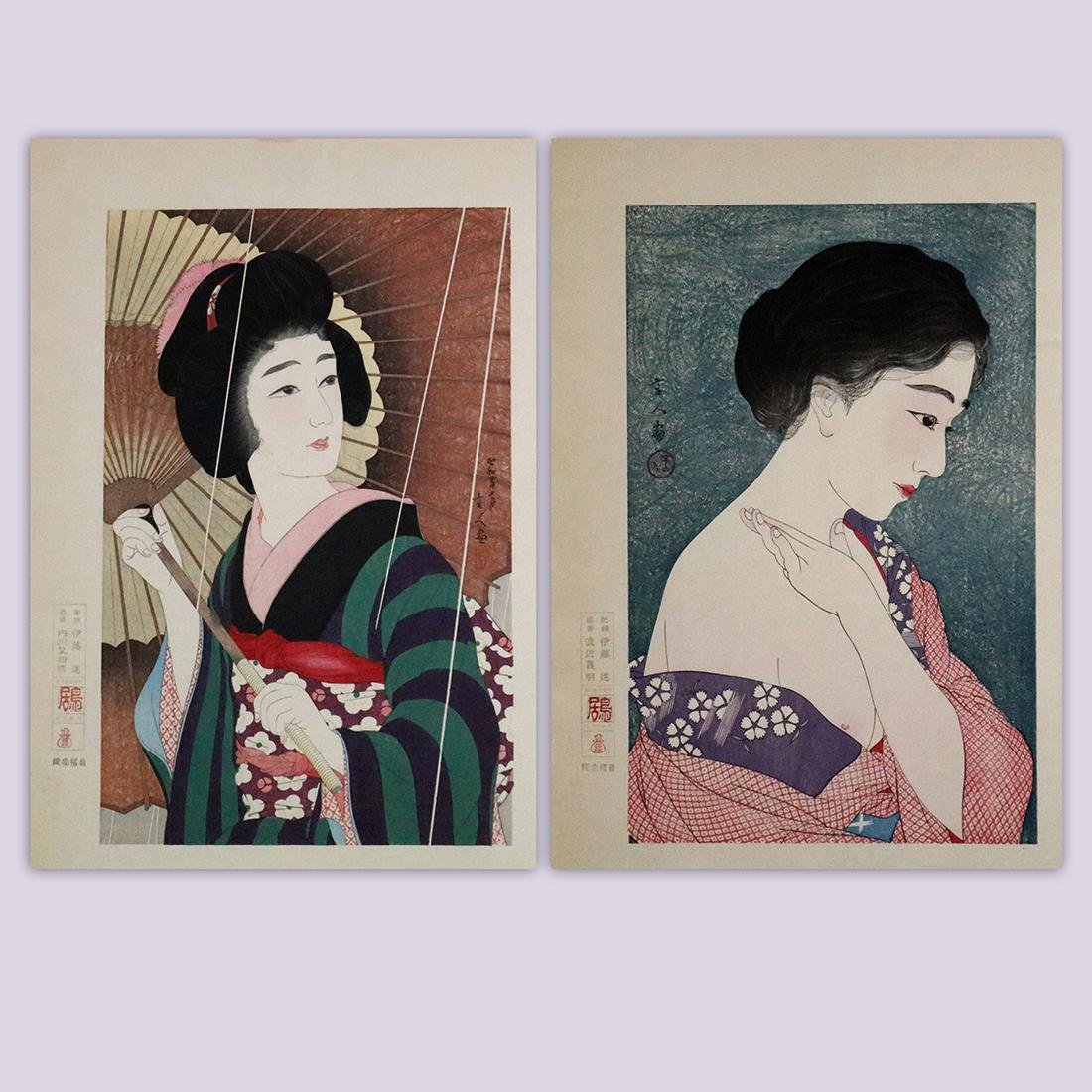 Japanese Woodblock Prints, Bijinga,Torii Kiyotada