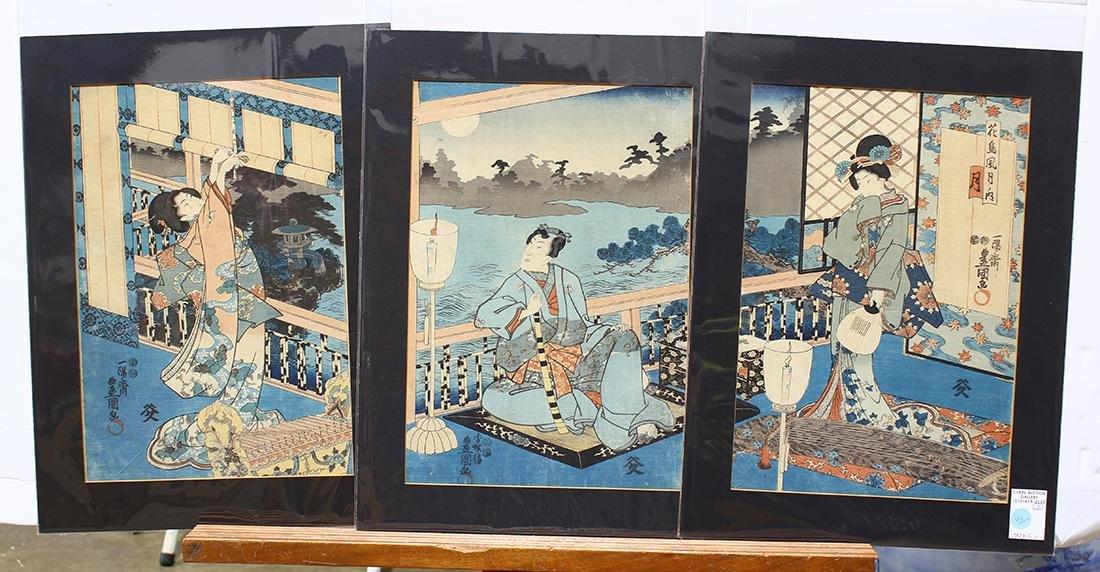 Japanese Woodblock Prints, Toyokuni, Eisen, mid-19c