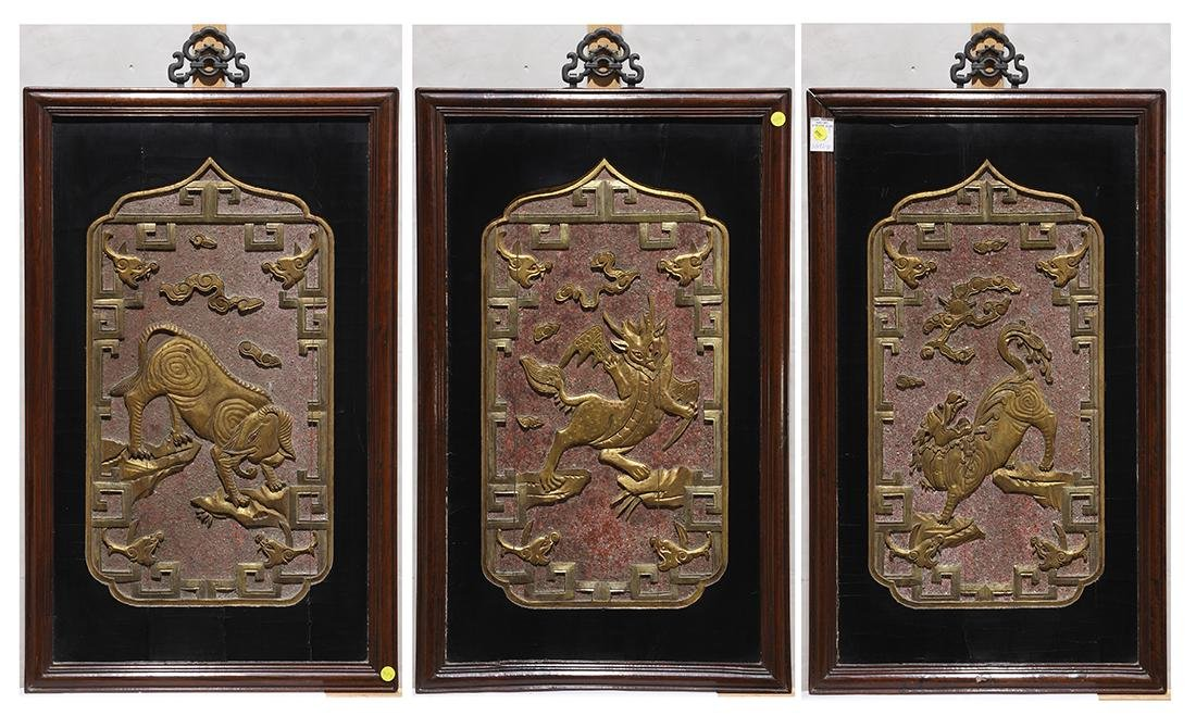 Chinese Wood Panels, Beasts