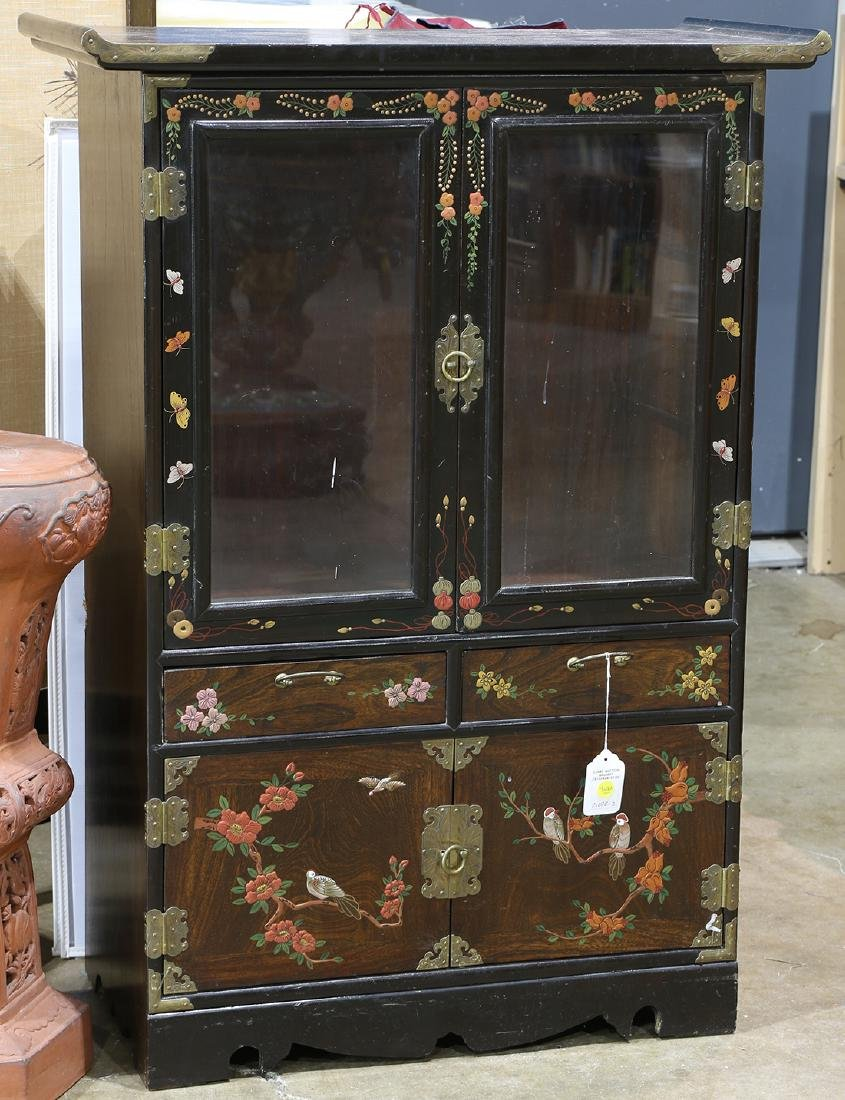 Korean Display Cabinet with Glass Doors