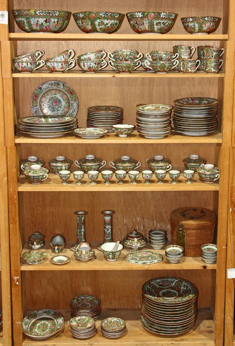 Six Shelves of Chinese Rose Medallions