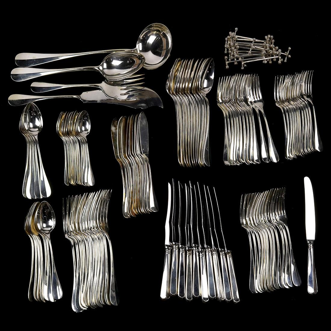 (lot of 121) Christofle silverplate flatware