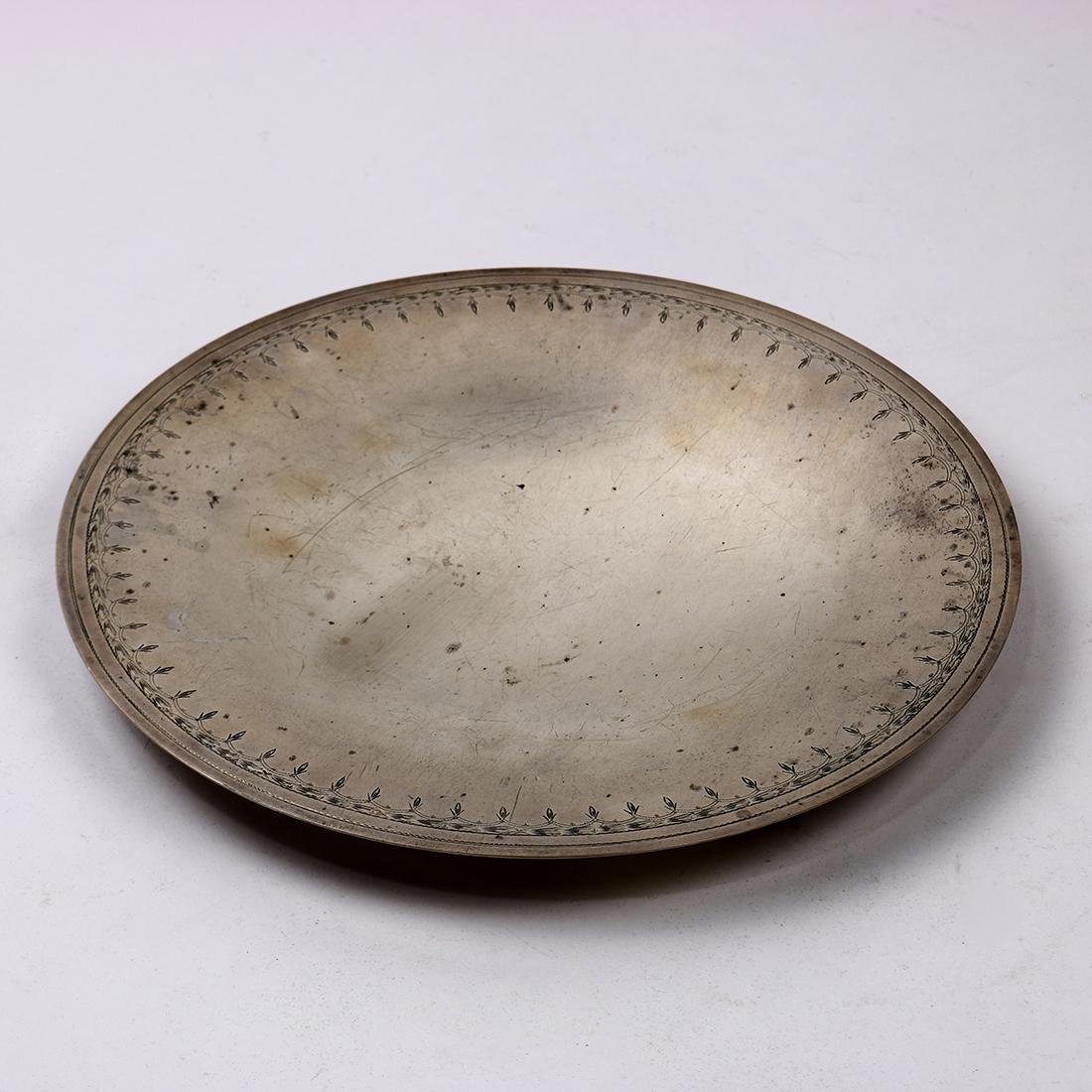 Gump's San Francisco sterling silver round tray