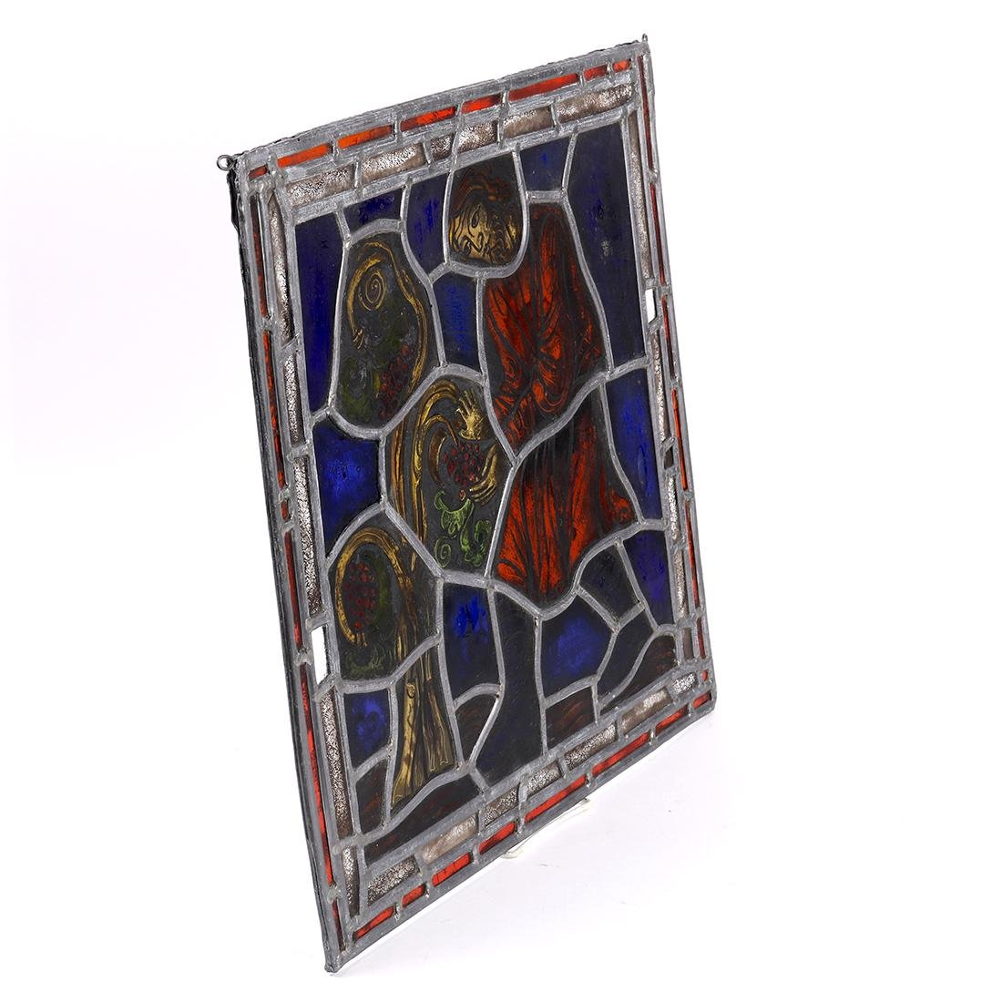 Abstract stained glass window, having polychrome glass - 3