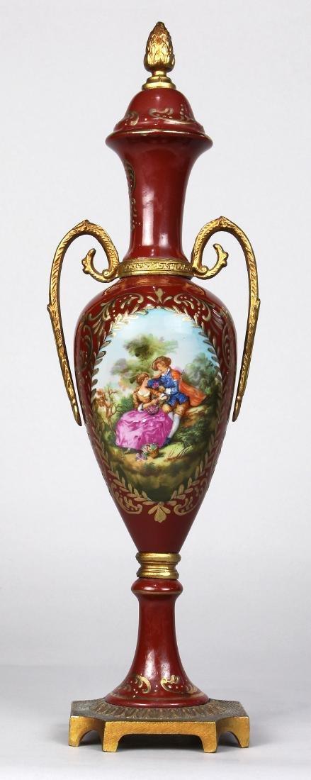 Royal Vienna style porcelain garniture