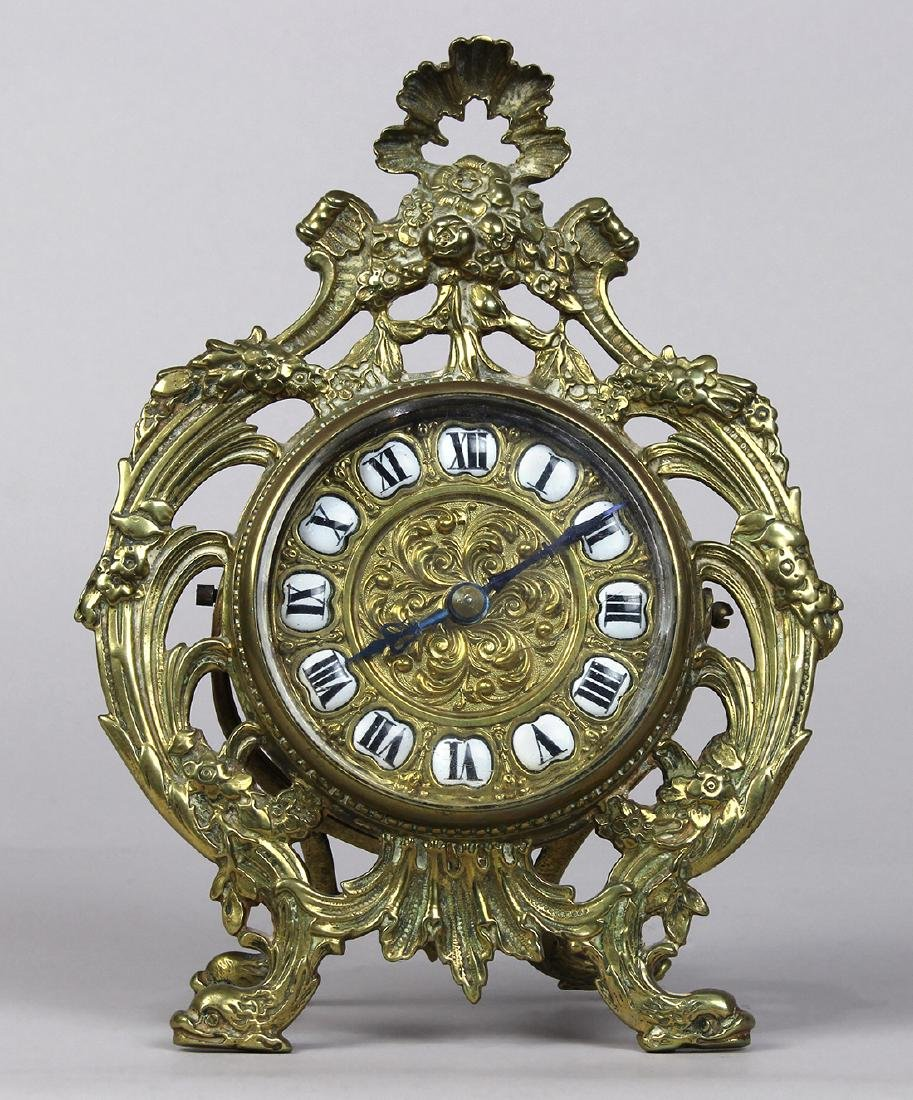 Rococo Revival desk clock