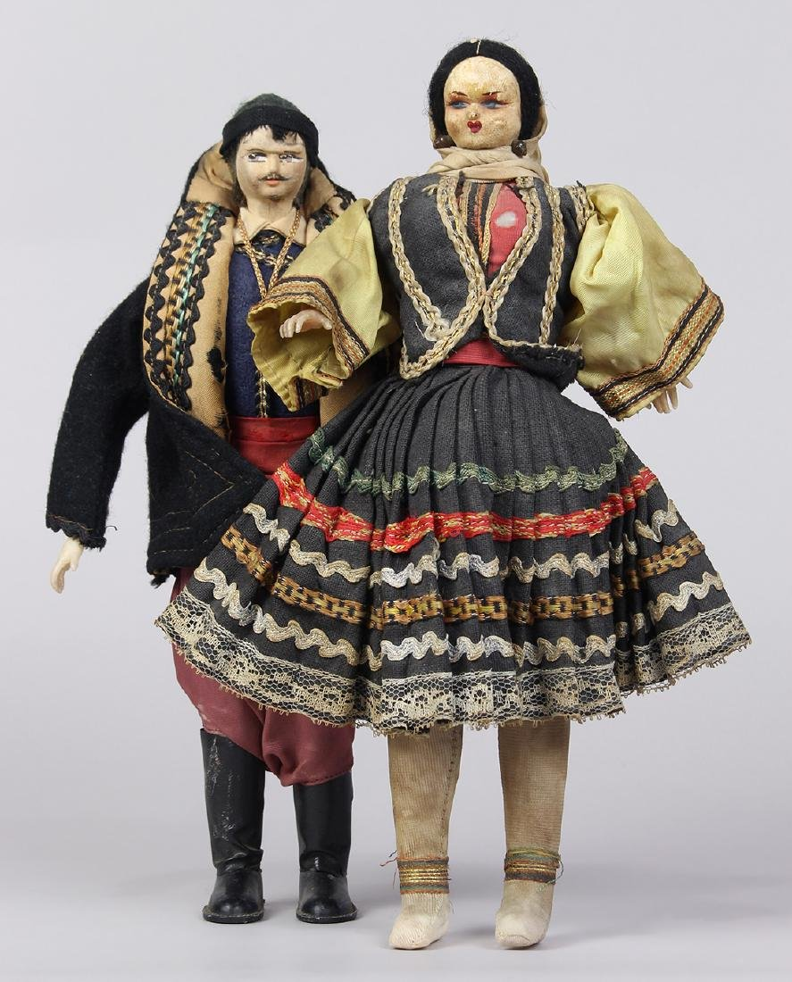 (lot of 3) Ethnic doll group, consisting of (2) Spanish