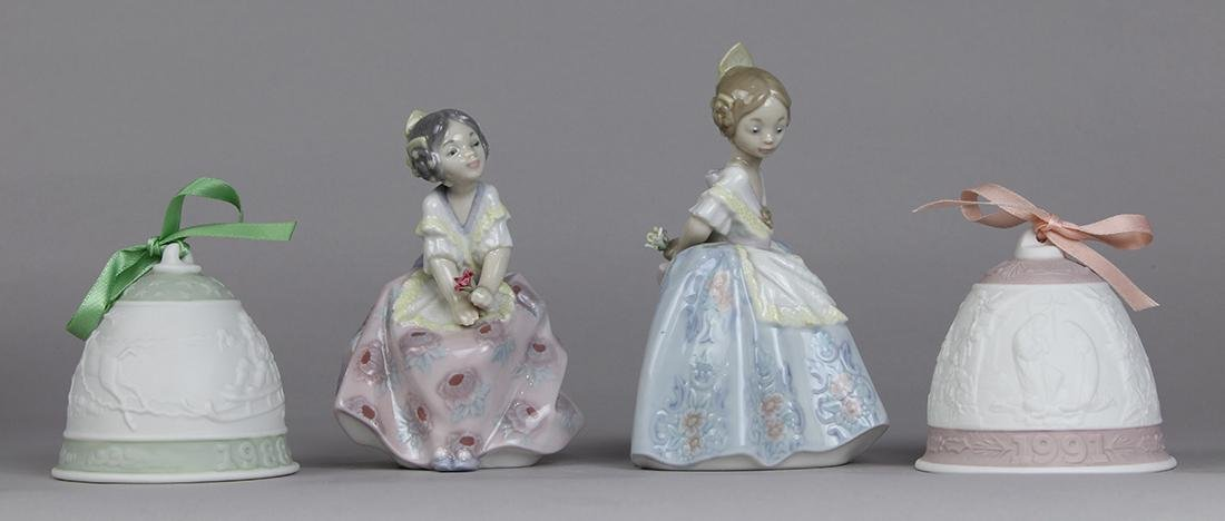 (lot of 4) Lladro porcelain group