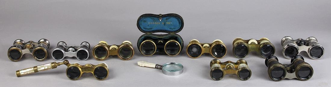 (lot of 11) Opera glasses, early 20th Century,