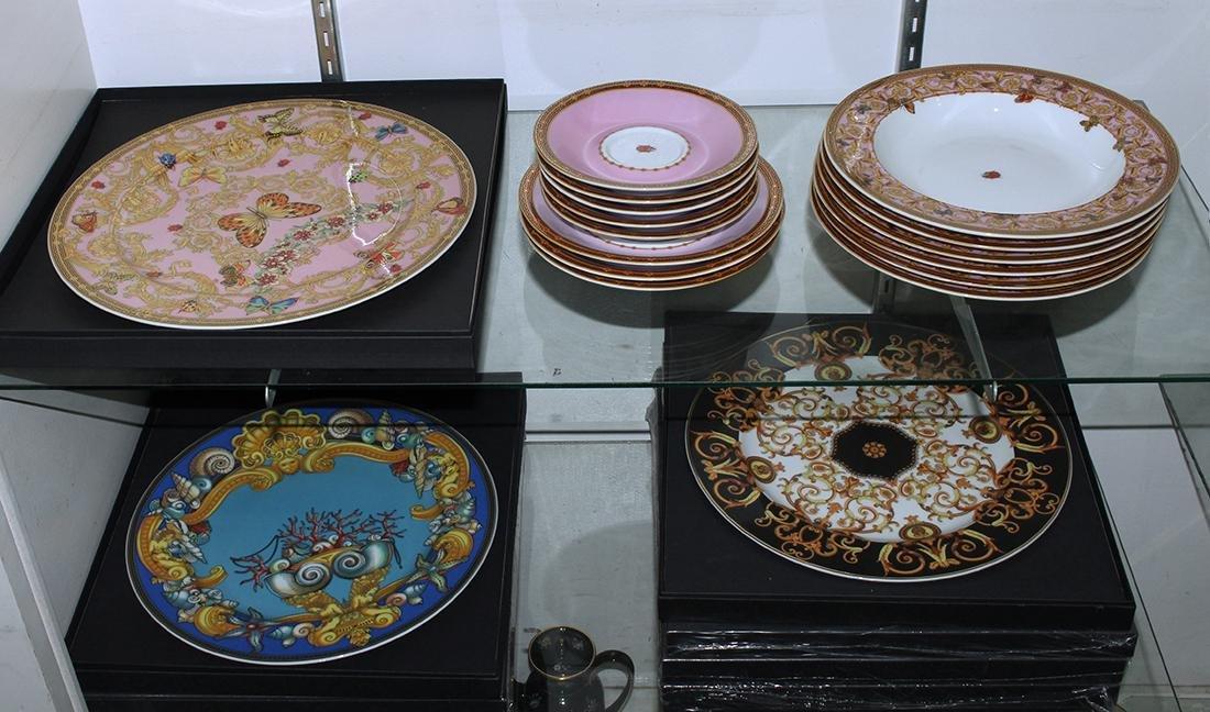 (lot of 23) Versace for Rosenthal associated porcelain