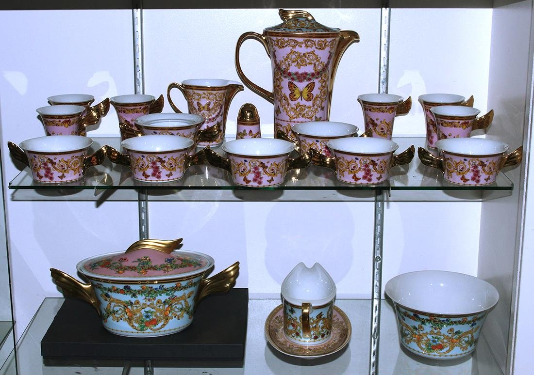 (lot of 20) Versace for Rosenthal porcelain group,