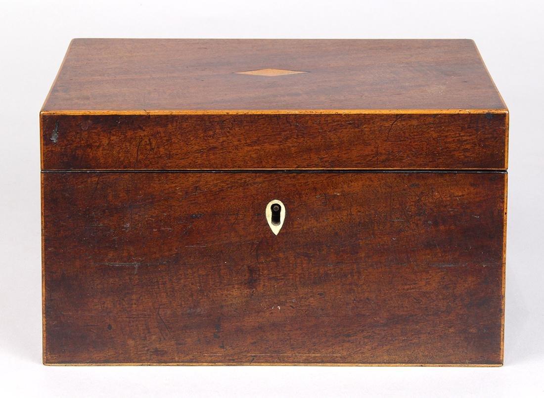 Edwardian mahogany tea caddy, 5