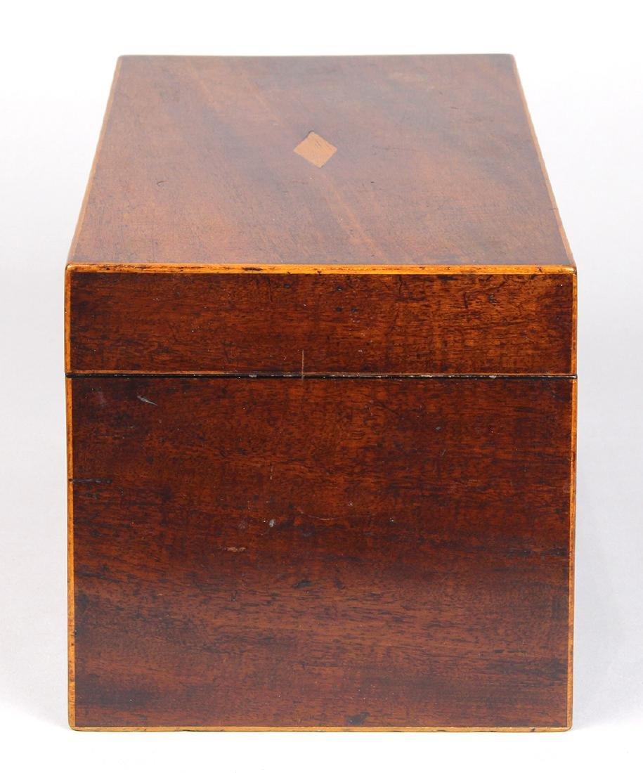 Edwardian mahogany tea caddy, 5 - 2