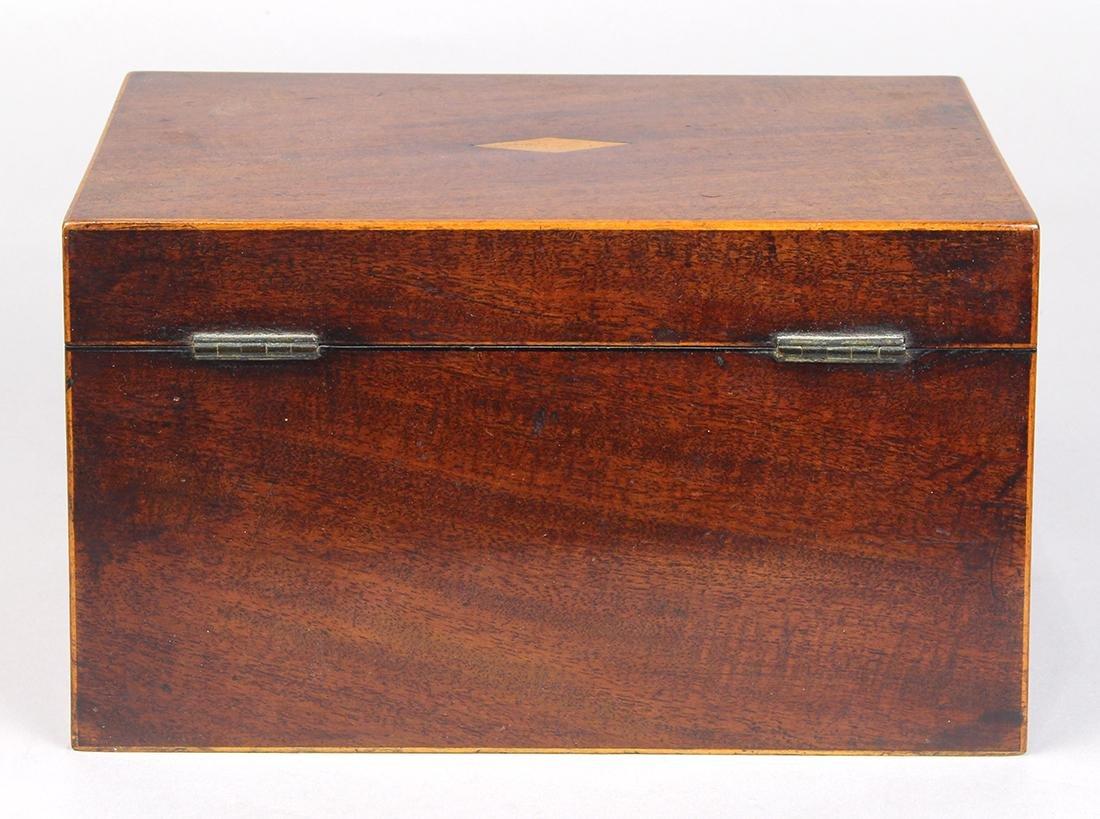 Edwardian mahogany tea caddy, 5 - 3