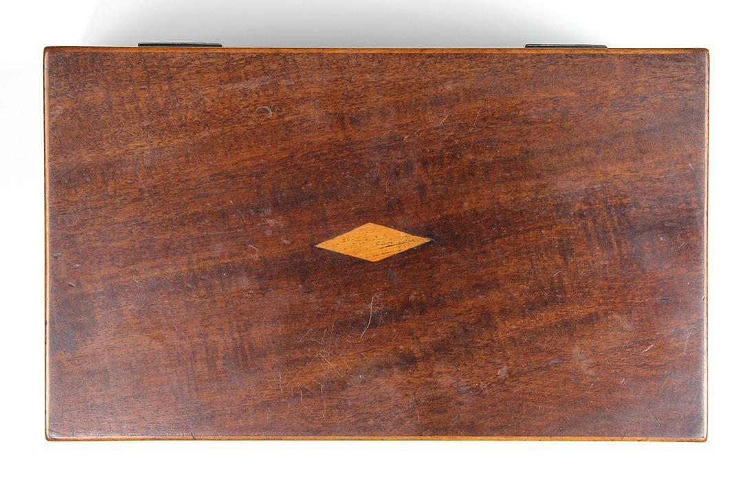 Edwardian mahogany tea caddy, 5 - 4