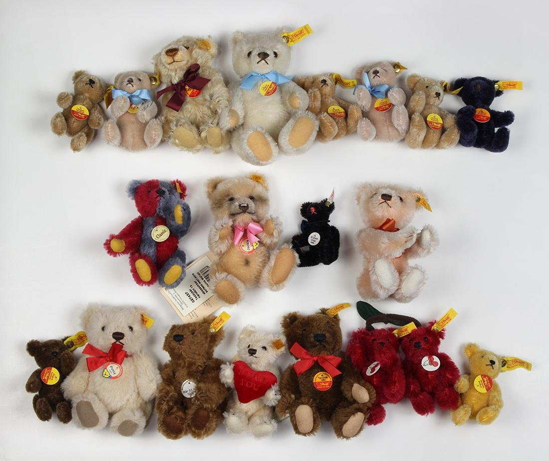 (lot of 20+) Germain Steiff mohair and plush miniature - 2