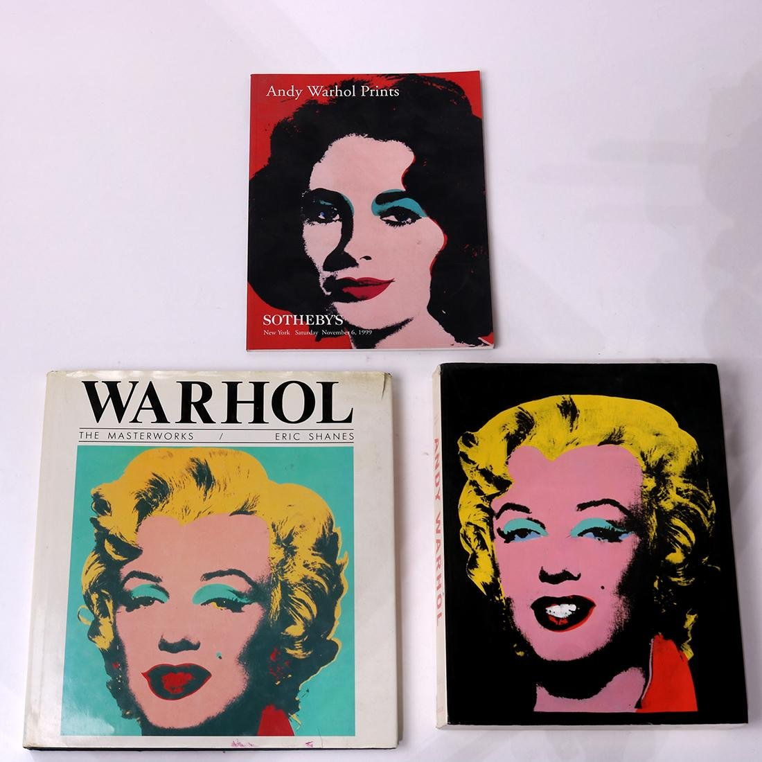 (lot of 3) Andy Warhol art book group, including a