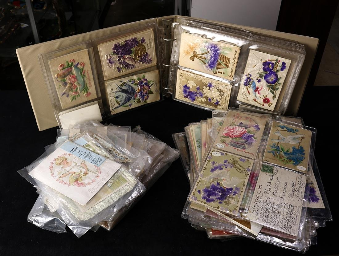 (lot of 200+) Vintage post card and greeting card