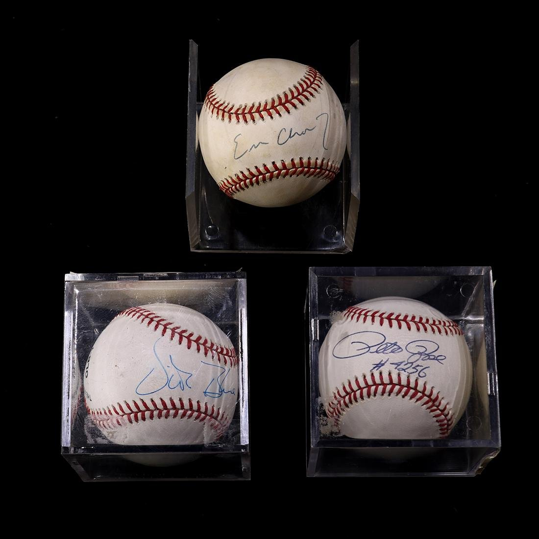 (lot of 3) Autographed collectible baseballs