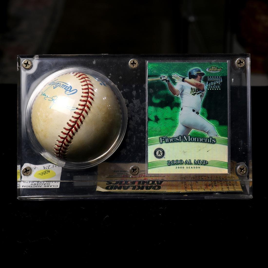 Oakland A's collectible baseball, signed Jason Giambi,