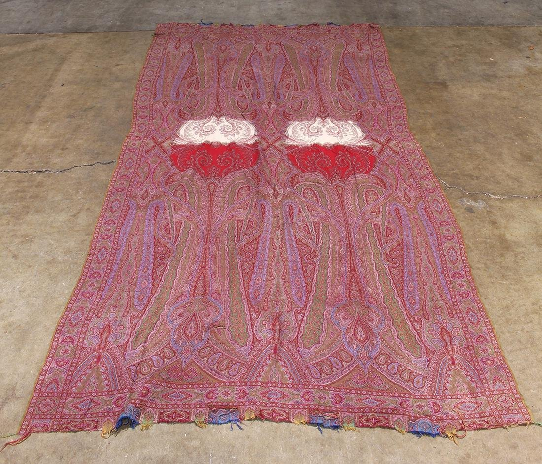 (lot of 3) Antique paisley shawl group - 10