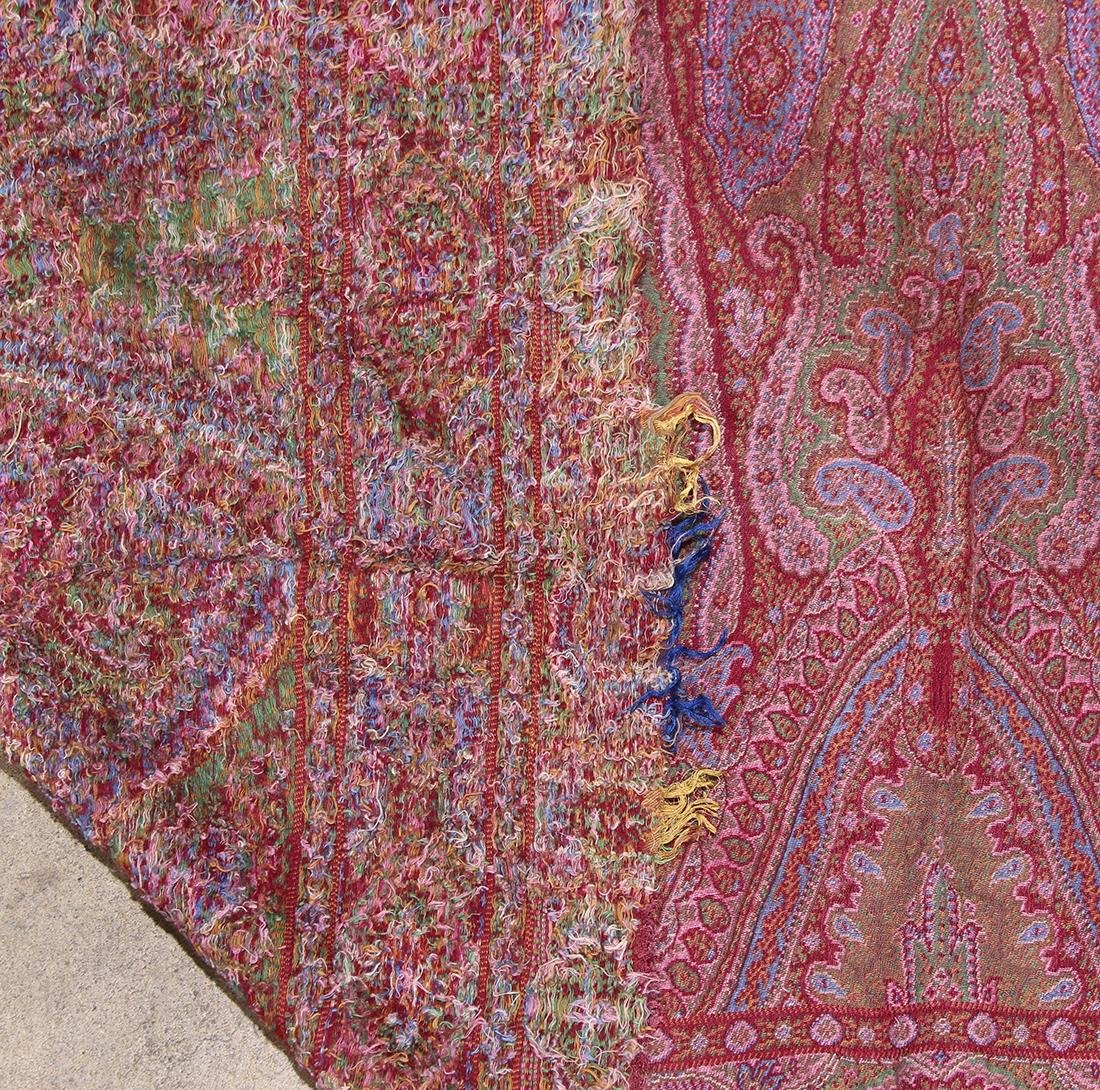 (lot of 3) Antique paisley shawl group - 11