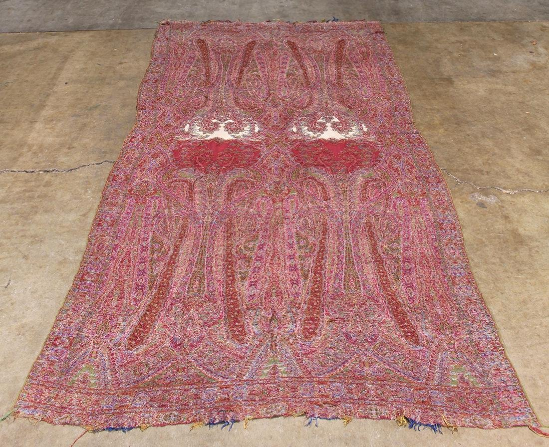 (lot of 3) Antique paisley shawl group - 13