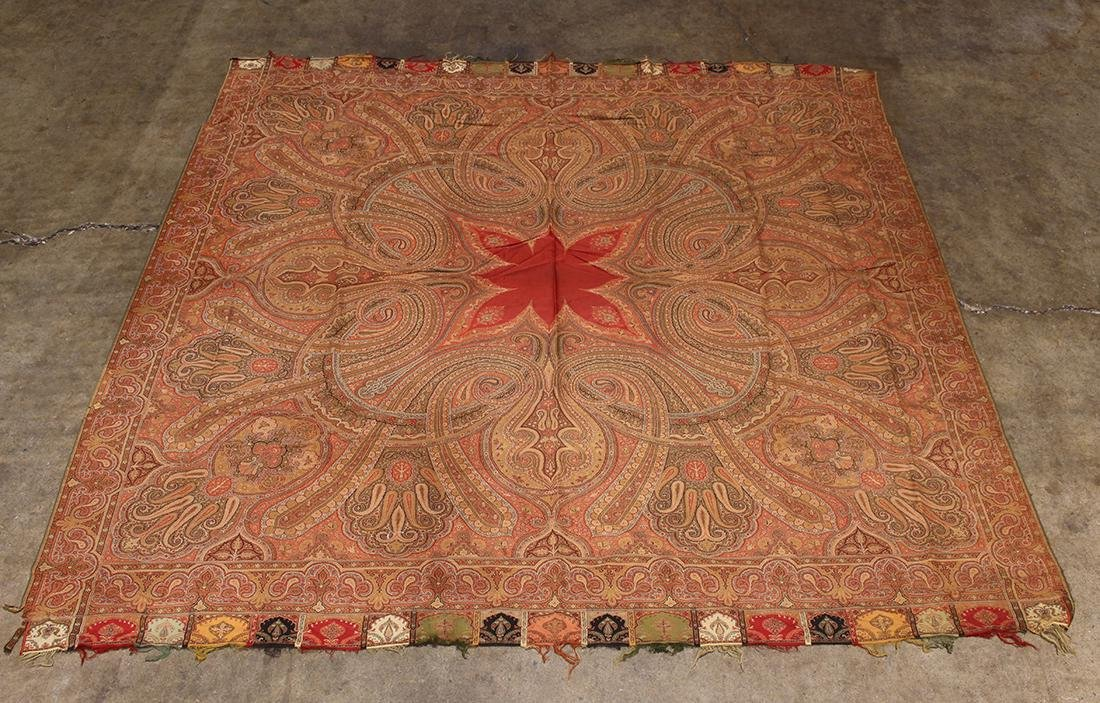 (lot of 3) Antique paisley shawl group - 5