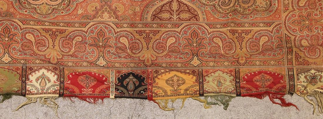 (lot of 3) Antique paisley shawl group - 8