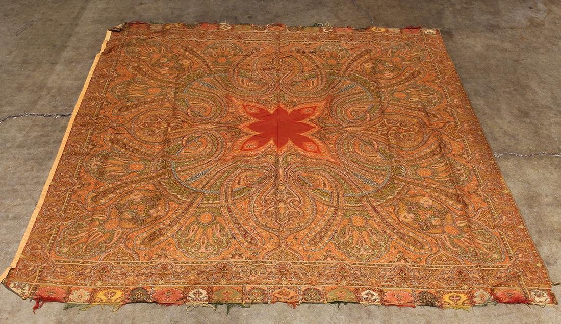 (lot of 3) Antique paisley shawl group - 9