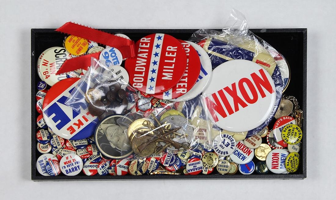 Collection of political pins