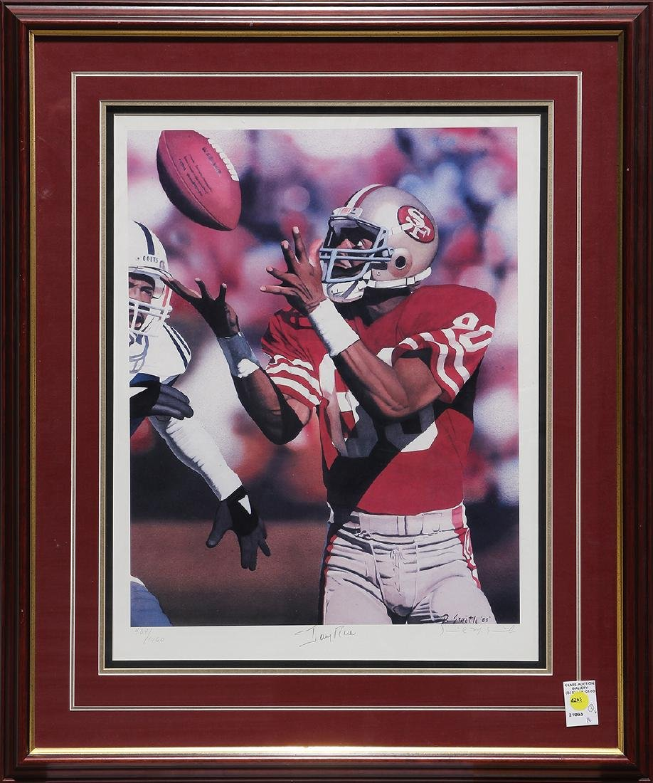 (lot of 3) Framed sports memorabilia group