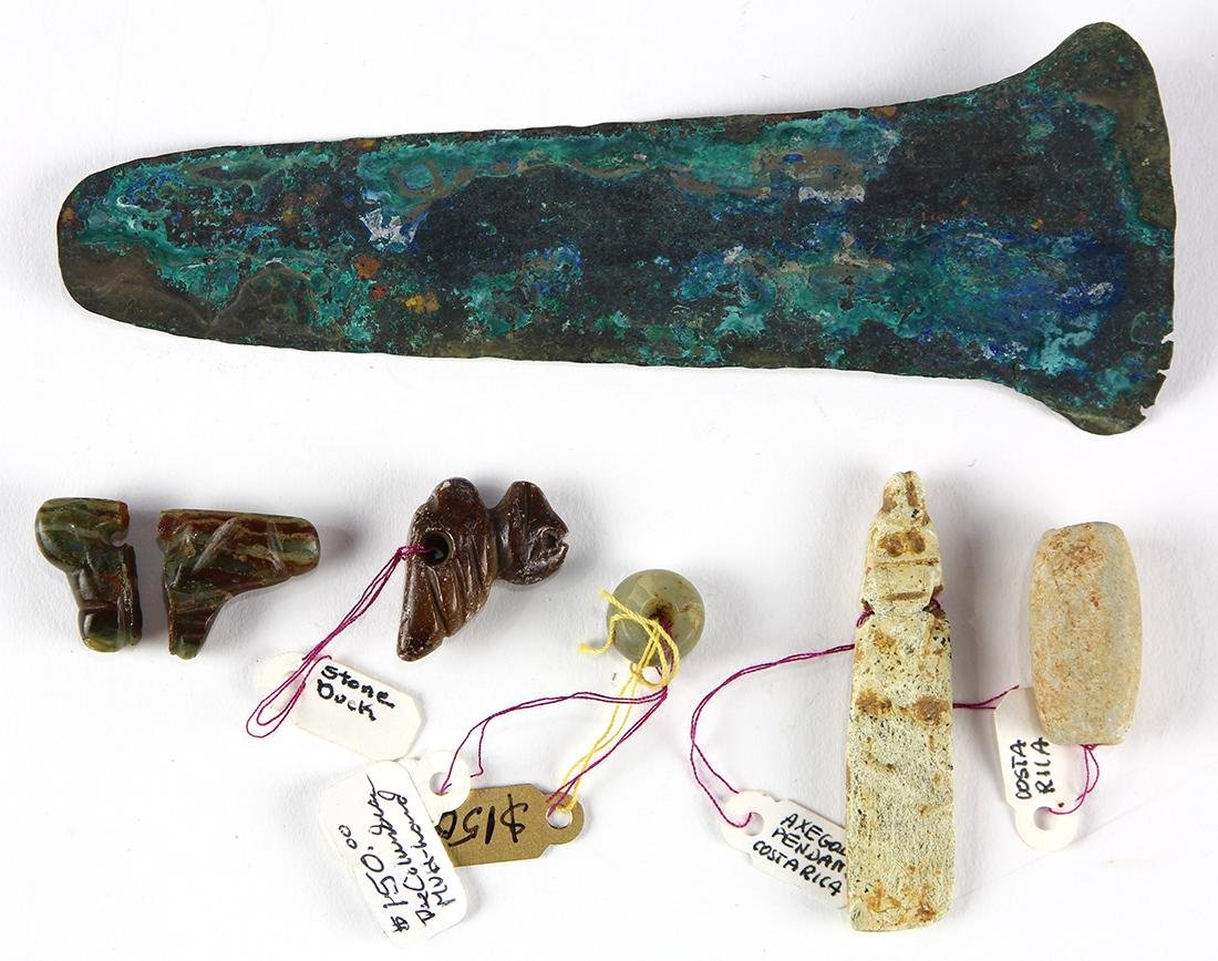 (lot of 6) Pre-Columbian assortment of artifacts