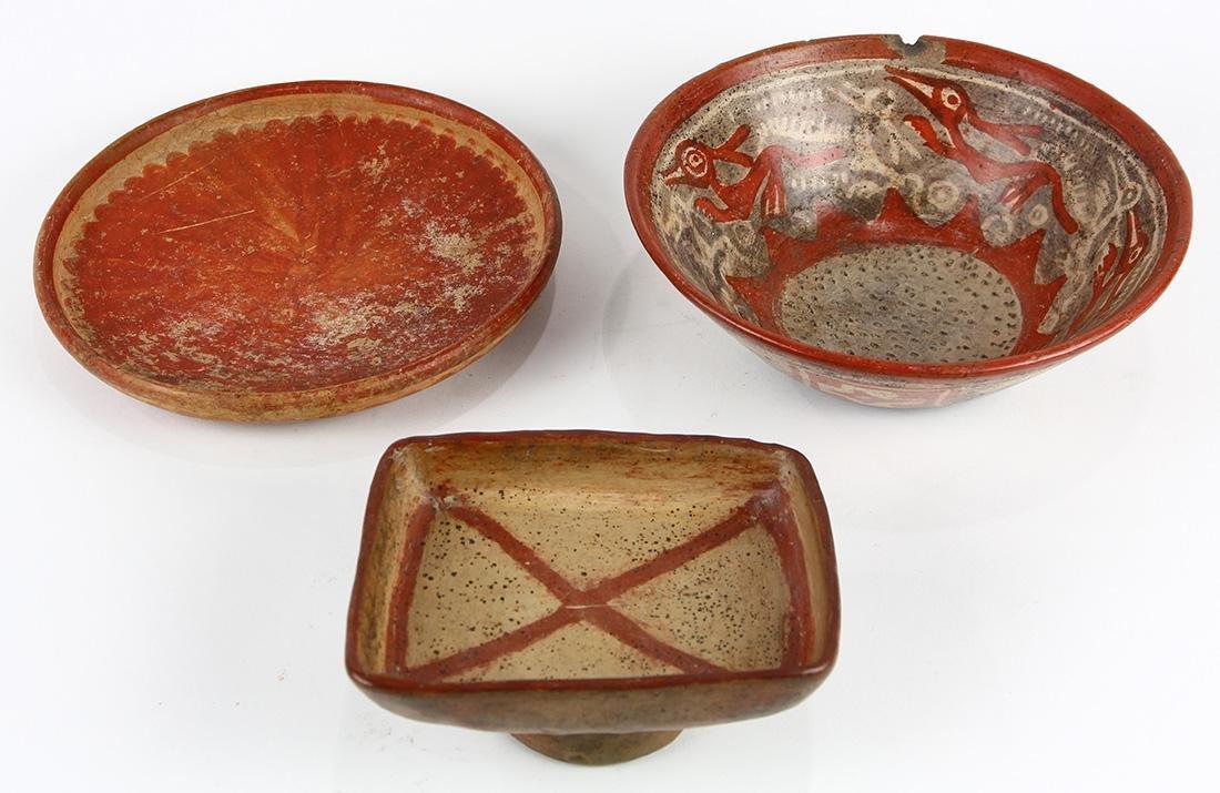 (lot of 3) Pre-Columbian vessels