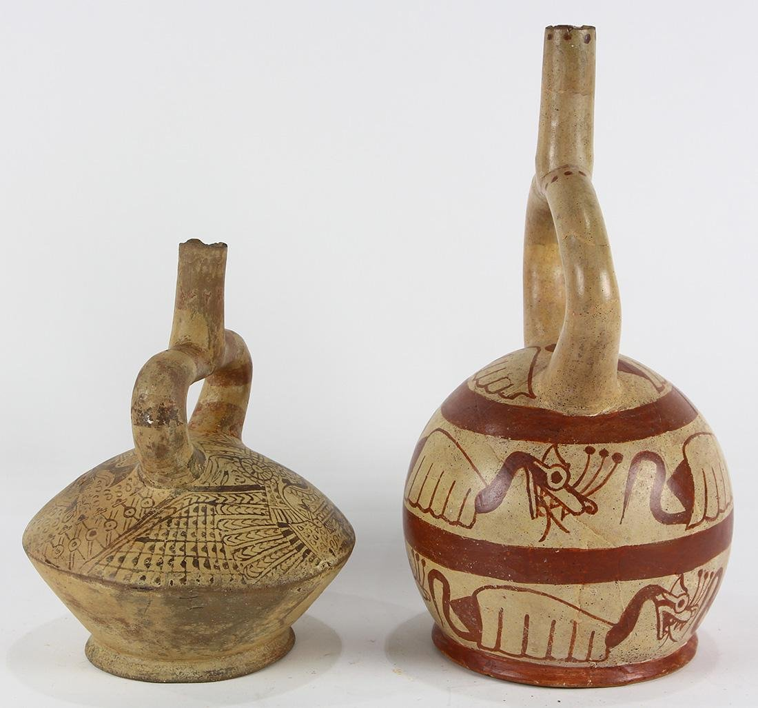 (lot of 2) Pre-Columbian stirrup vessels - 2