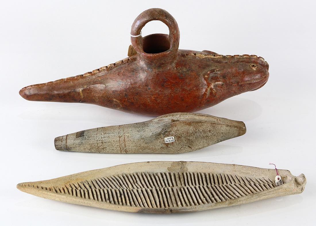 (lot of 3) Pre-Columbian