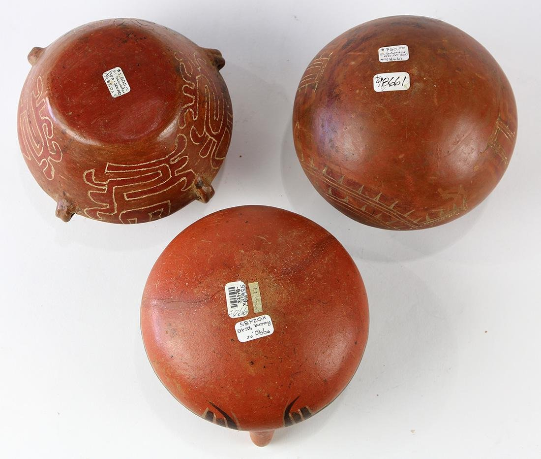 (lot of 3) Pre-Columbian vessel group - 4