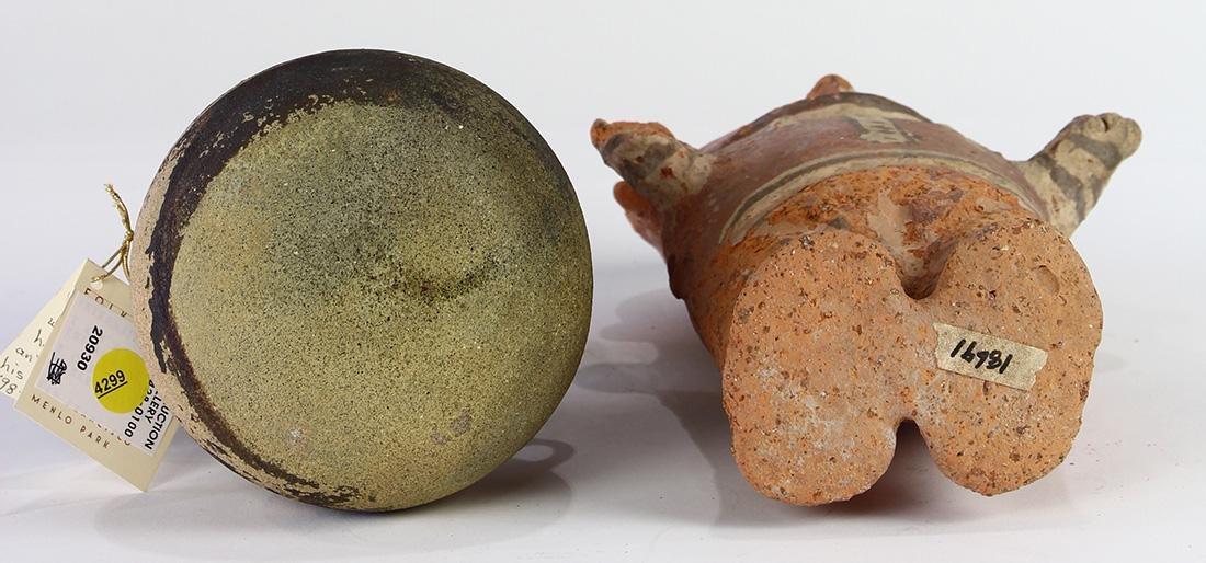 (lot of 2) Pre-Columbian ceramic moon goddess figures - 3
