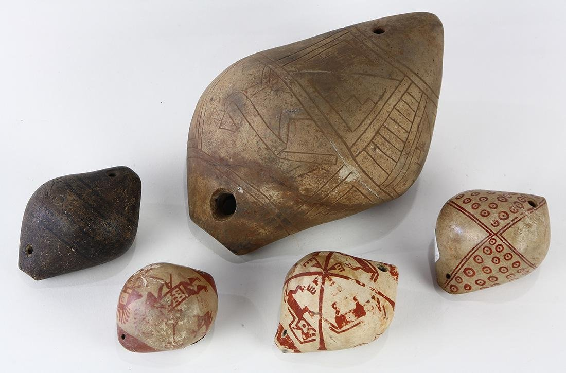(lot of 5) Pre-Columbian