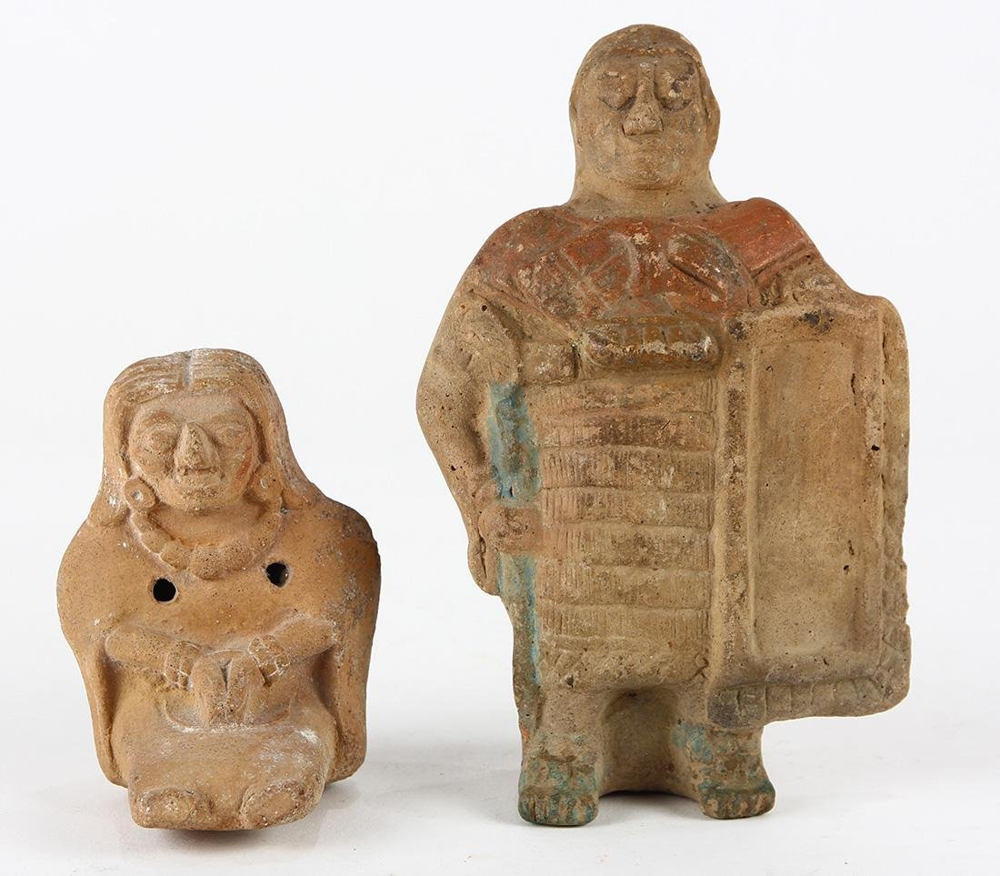 (lot of 2) Pre-Columbian Mayan