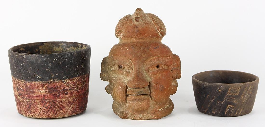 (lot of 3) Pre-Columbian Olmec culture objects