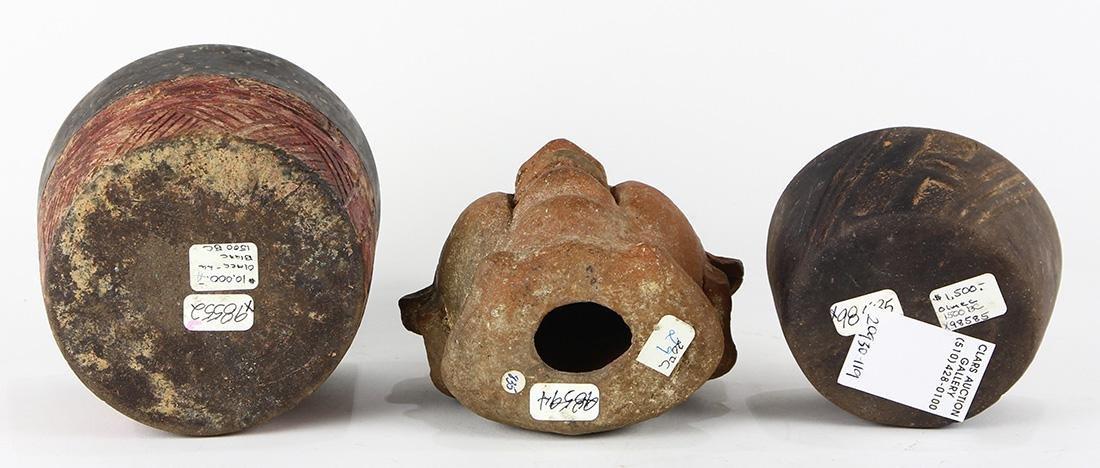 (lot of 3) Pre-Columbian Olmec culture objects - 2